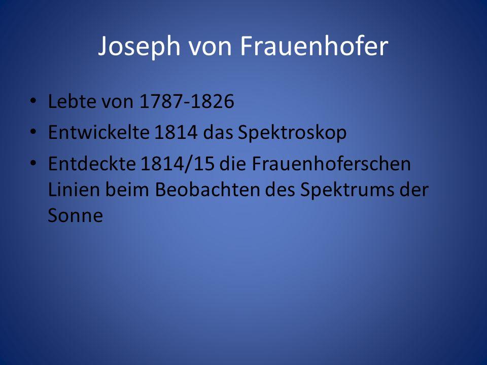 Joseph von Frauenhofer