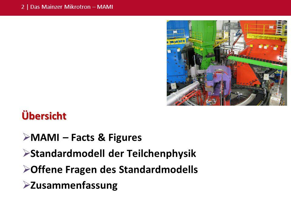 Standardmodell der Teilchenphysik Offene Fragen des Standardmodells