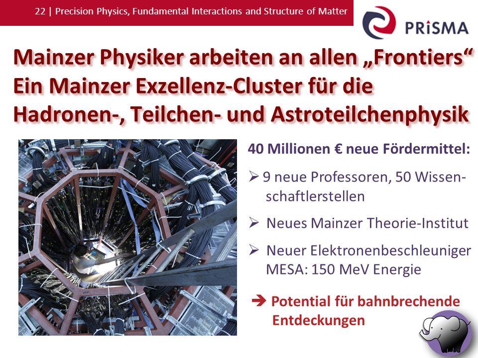 "Mainzer Physiker arbeiten an allen ""Frontiers"
