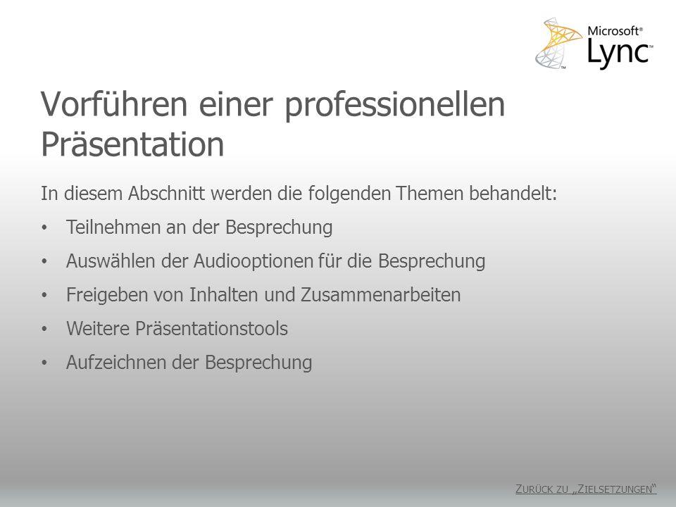 Vorführen einer professionellen Präsentation