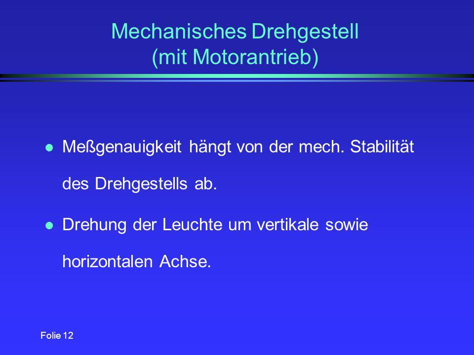 Mechanisches Drehgestell (mit Motorantrieb)