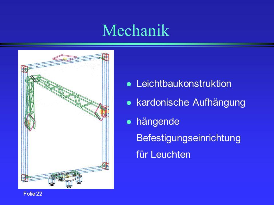 Mechanik Leichtbaukonstruktion kardonische Aufhängung