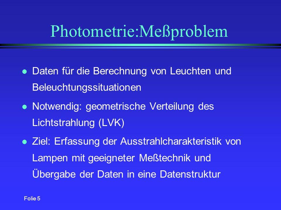 Photometrie:Meßproblem