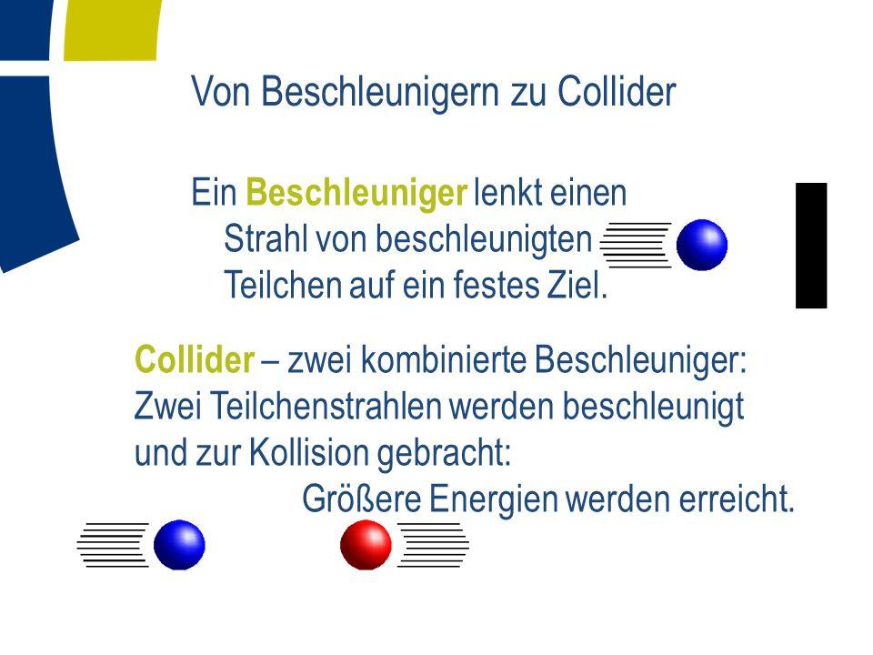 Von Beschleunigern zu Collider