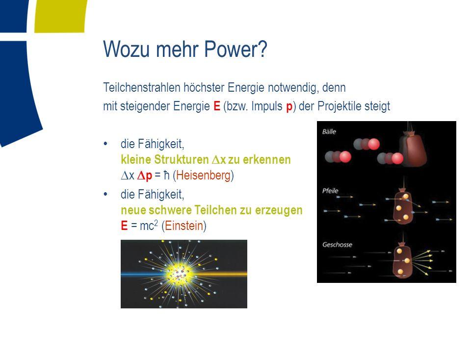 Wozu mehr Power Teilchenstrahlen höchster Energie notwendig, denn