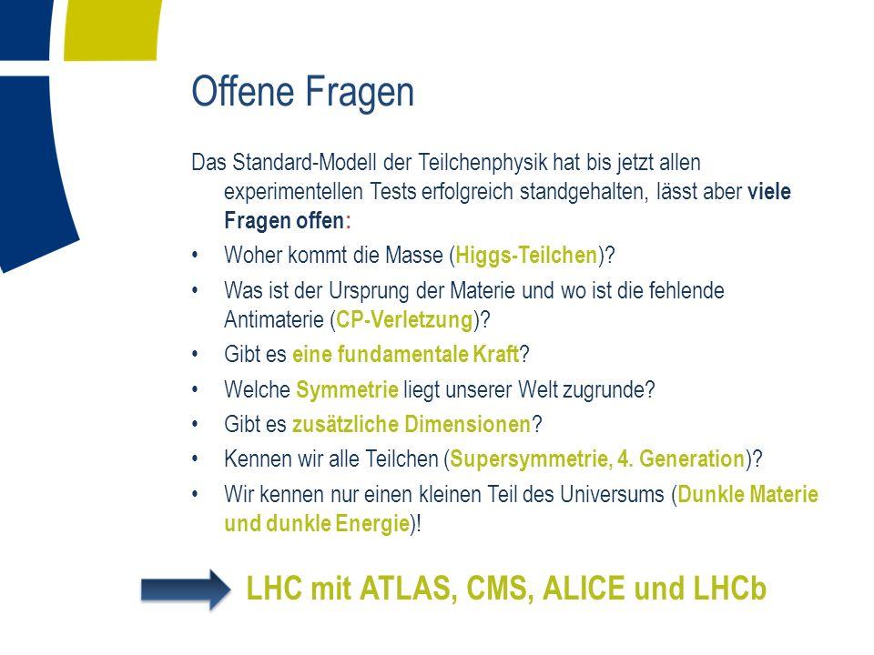 LHC mit ATLAS, CMS, ALICE und LHCb