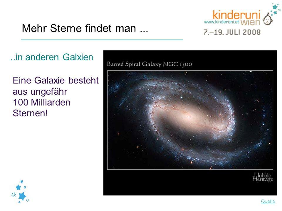 Mehr Sterne findet man ... ..in anderen Galxien