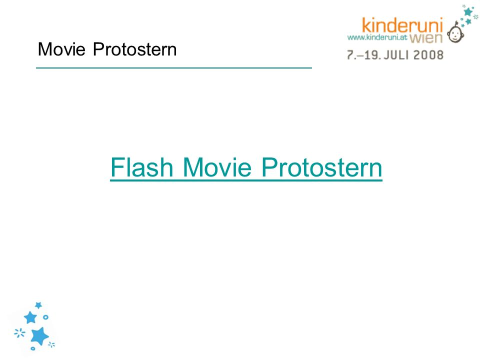 Flash Movie Protostern