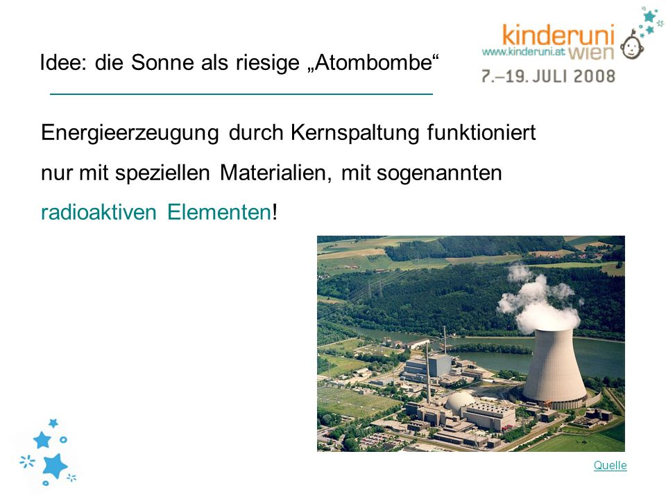 "Idee: die Sonne als riesige ""Atombombe"