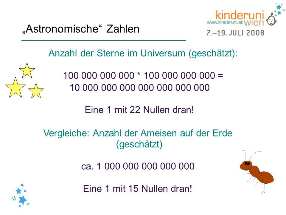 """""""Astronomische Zahlen"""