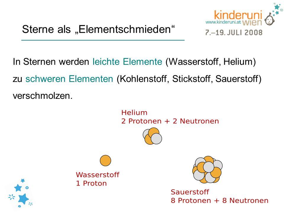 """Sterne als """"Elementschmieden"""