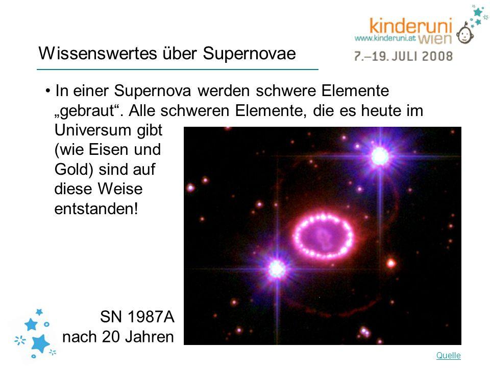 Wissenswertes über Supernovae