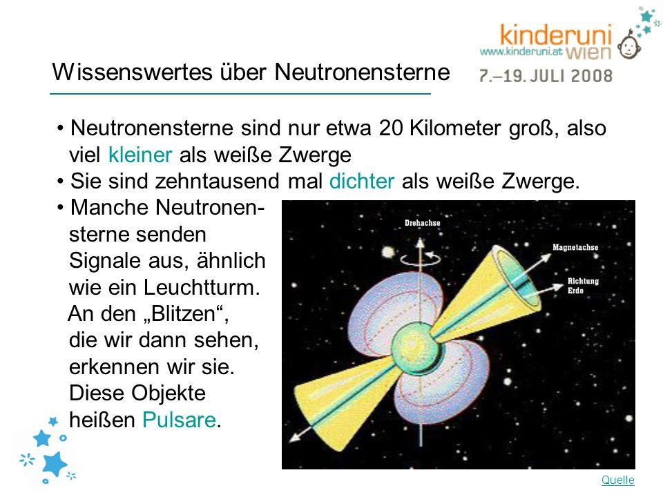 Wissenswertes über Neutronensterne