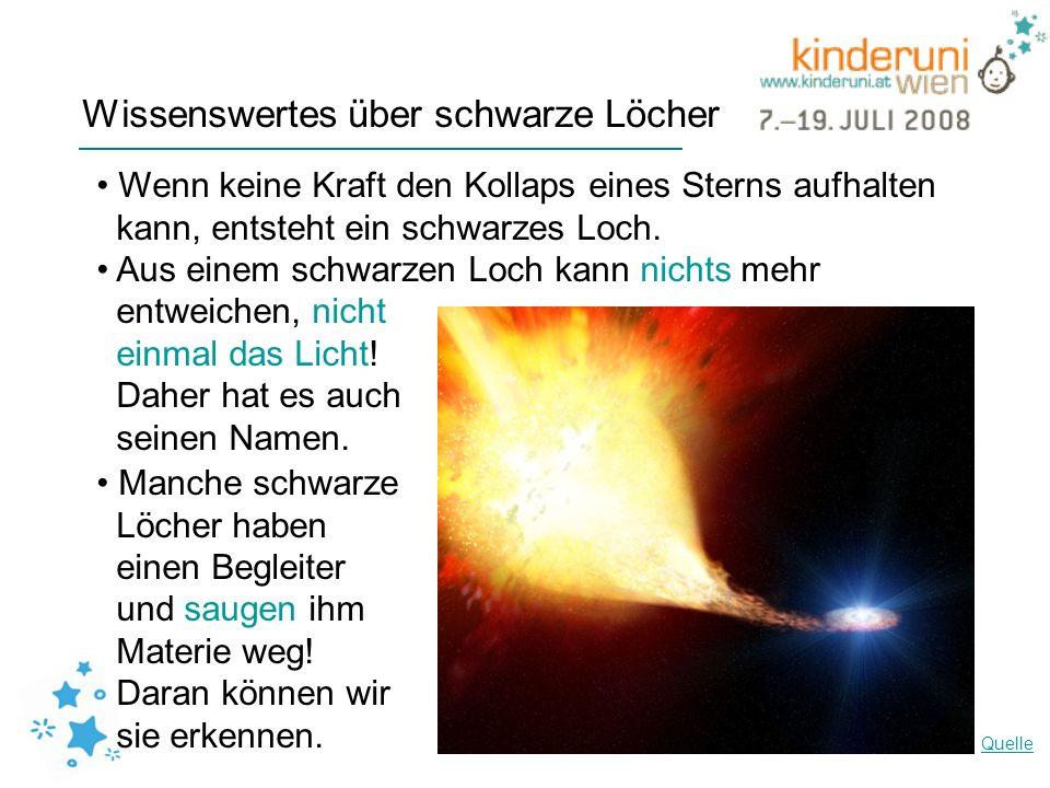 Wissenswertes über schwarze Löcher
