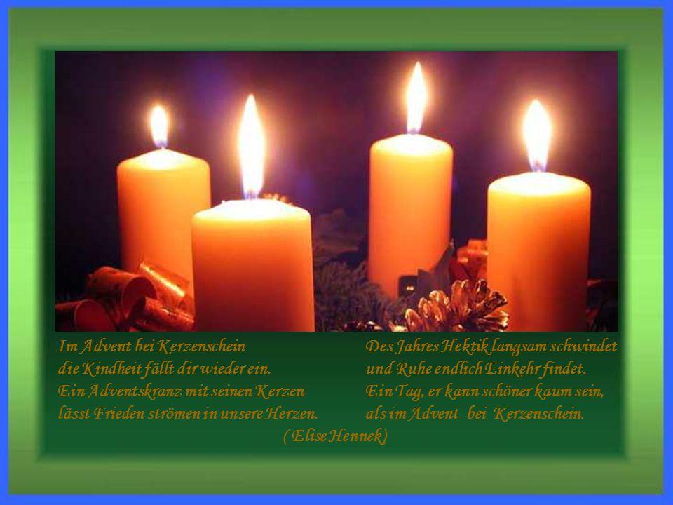 Im Advent bei Kerzenschein