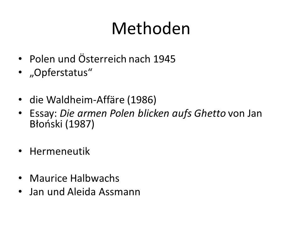 """Methoden Polen und Österreich nach 1945 """"Opferstatus"""