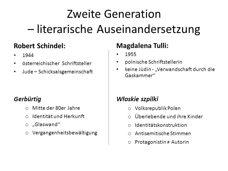 Zweite Generation – literarische Auseinandersetzung