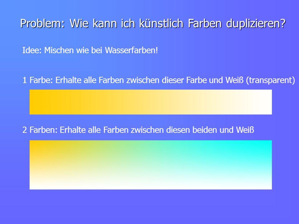 Problem: Wie kann ich künstlich Farben duplizieren