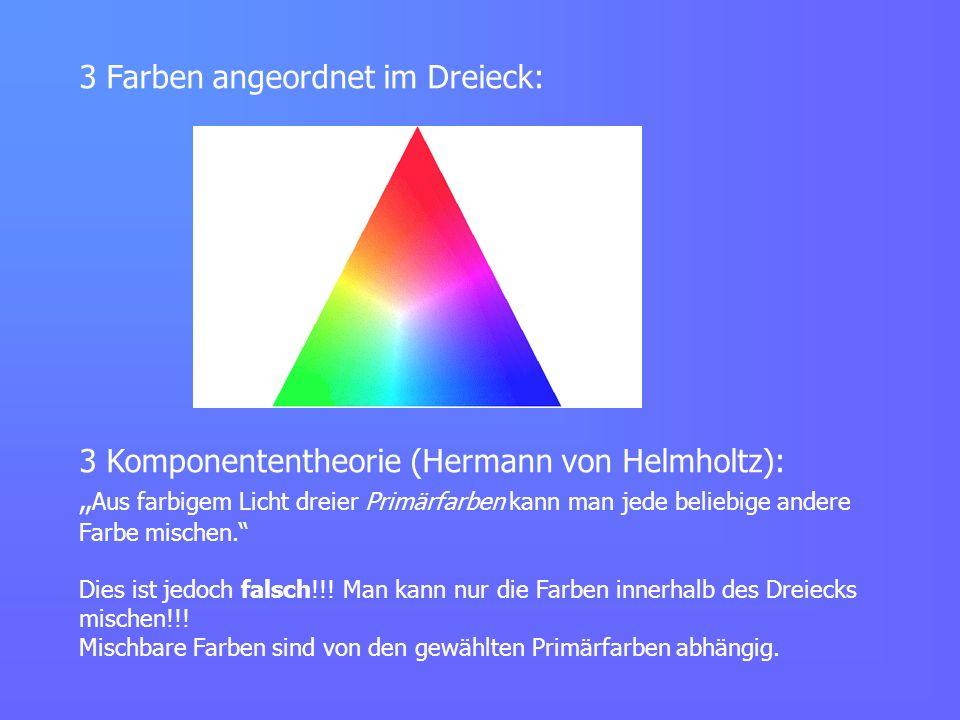 3 Farben angeordnet im Dreieck: