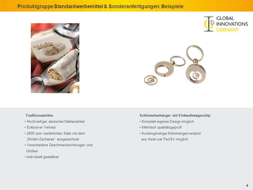Produktgruppe Standardwerbemittel & Sonderanfertigungen: Beispiele
