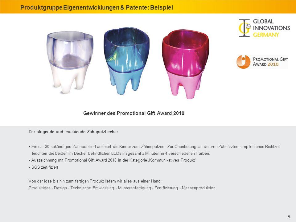 Produktgruppe Eigenentwicklungen & Patente: Beispiel
