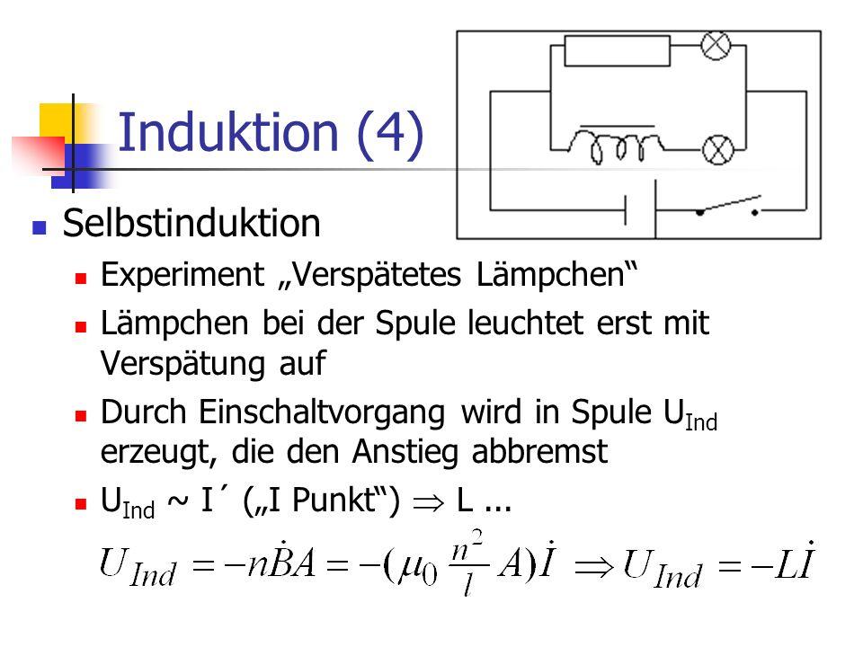 "Induktion (4) Selbstinduktion Experiment ""Verspätetes Lämpchen"