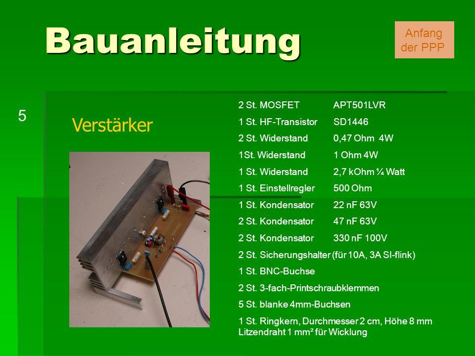 Bauanleitung Verstärker 5 Anfang der PPP 2 St. MOSFET APT501LVR