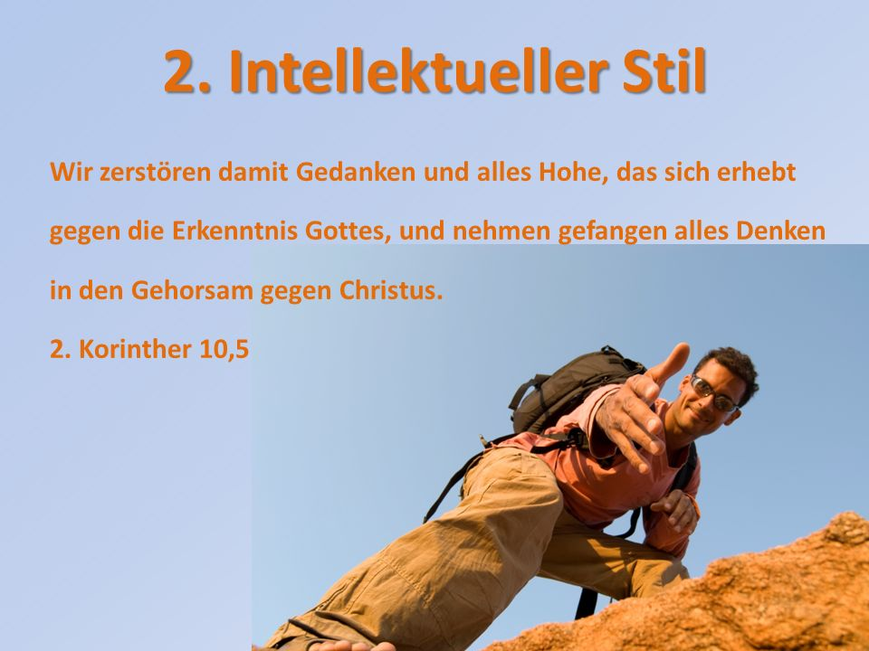 2. Intellektueller Stil