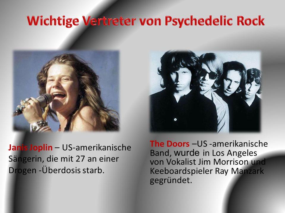 Wichtige Vertreter von Psychedelic Rock