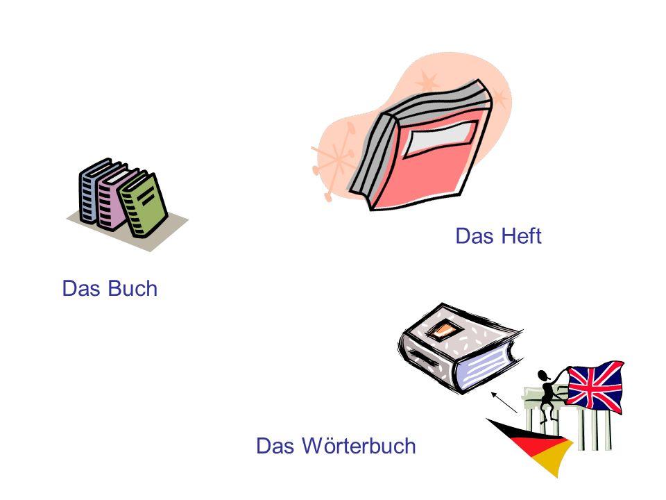 Das Heft Das Buch Das Wörterbuch
