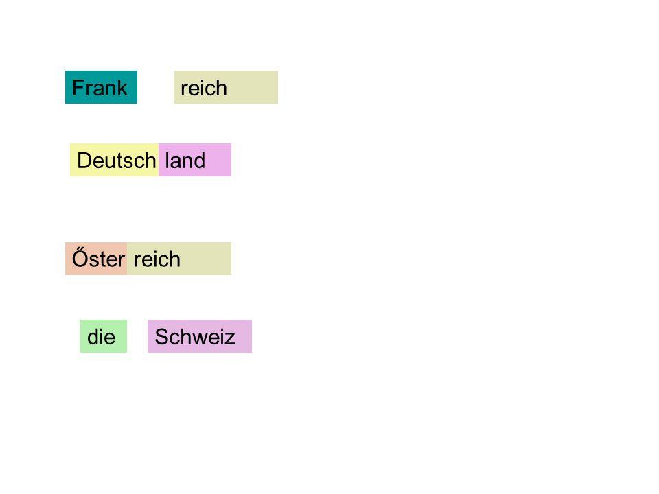 Frank reich Deutsch land Őster reich die Schweiz
