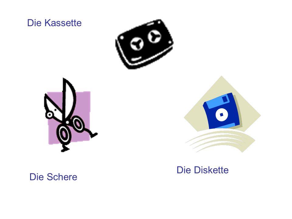 Die Kassette Die Diskette Die Schere