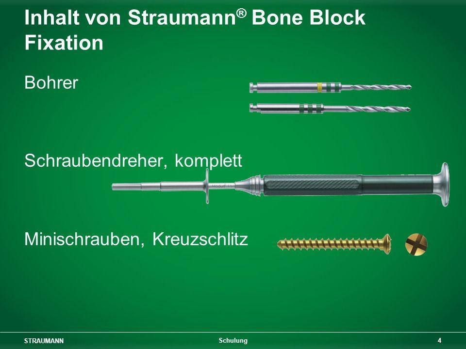 Inhalt von Straumann® Bone Block Fixation