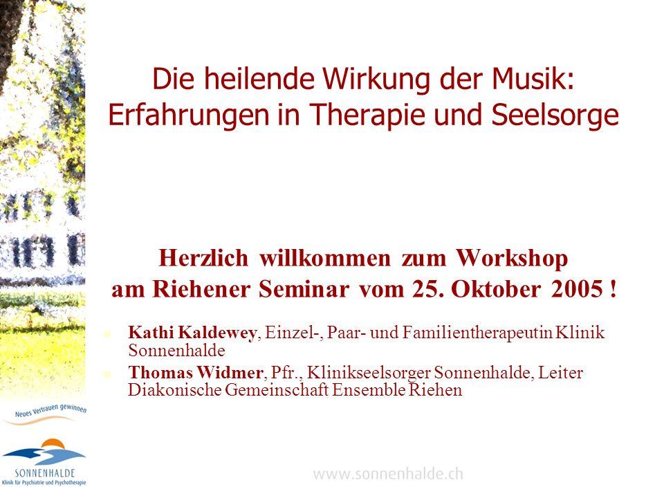 Die heilende Wirkung der Musik: Erfahrungen in Therapie und Seelsorge
