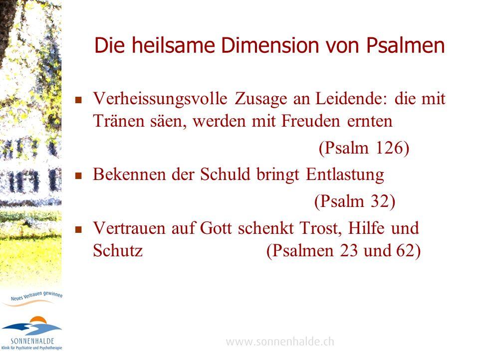 Die heilsame Dimension von Psalmen