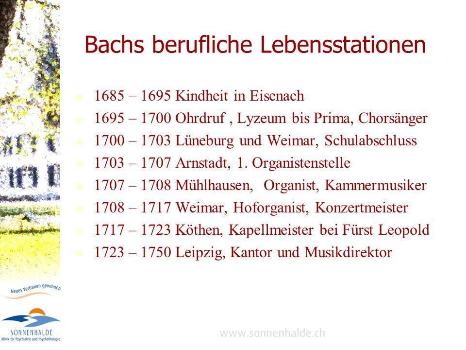 Bachs berufliche Lebensstationen