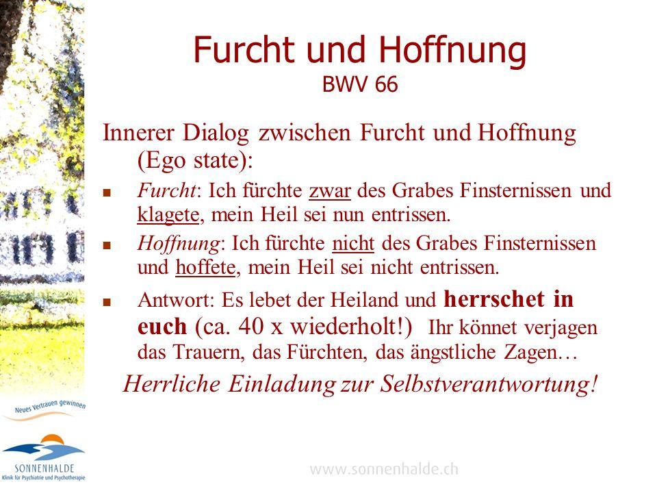 Furcht und Hoffnung BWV 66