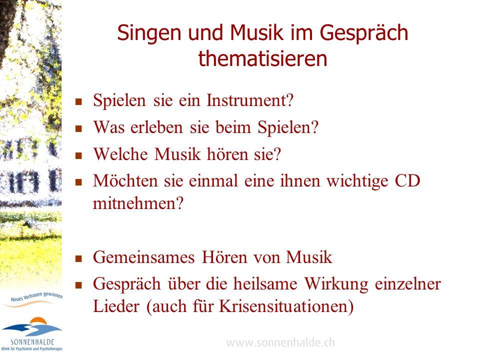 Singen und Musik im Gespräch thematisieren