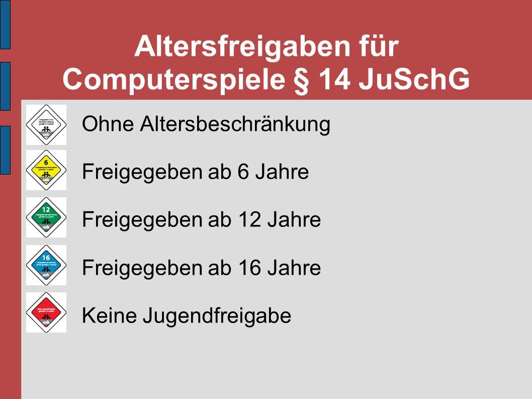 Altersfreigaben für Computerspiele § 14 JuSchG