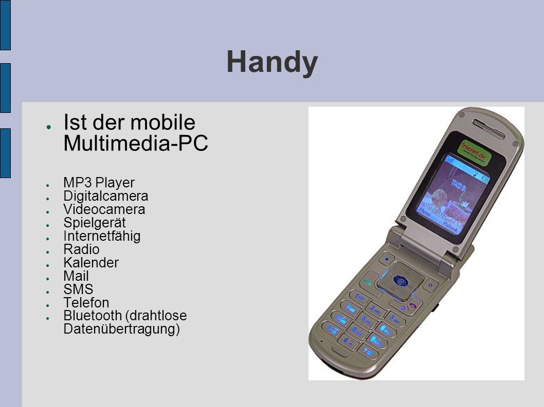 Handy Ist der mobile Multimedia-PC MP3 Player Digitalcamera