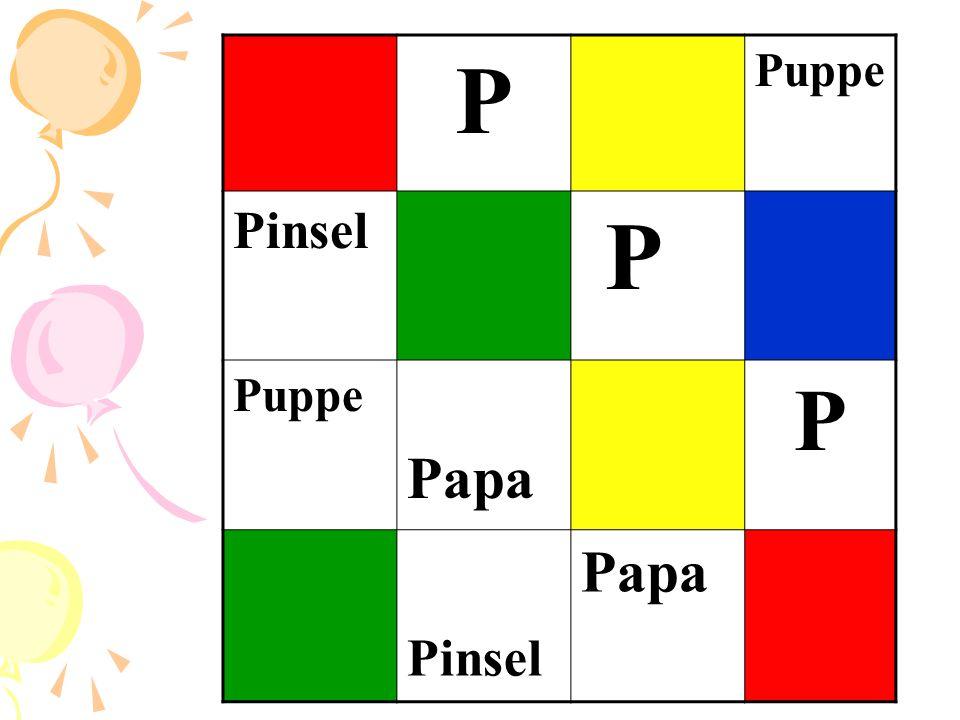 P Puppe Pinsel Papa