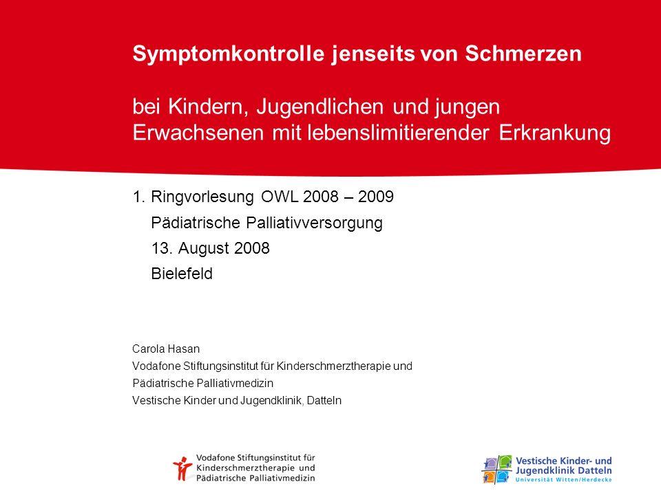 Symptomkontrolle jenseits von Schmerzen bei Kindern, Jugendlichen und jungen Erwachsenen mit lebenslimitierender Erkrankung