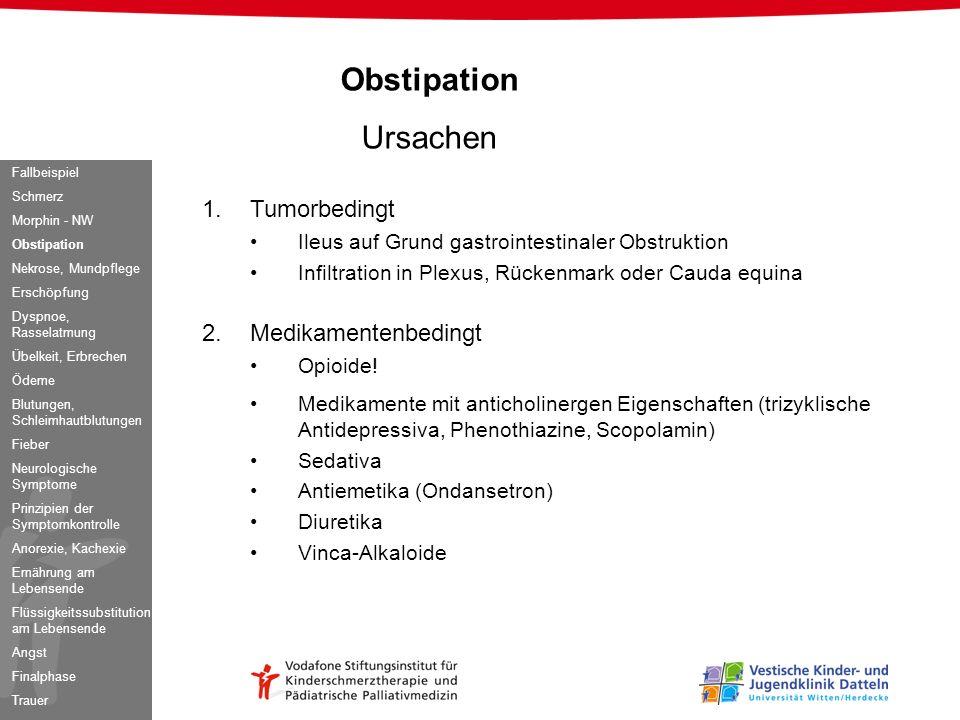 Obstipation Ursachen Tumorbedingt Medikamentenbedingt