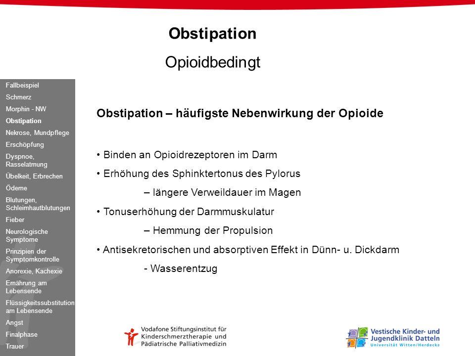 Obstipation Opioidbedingt