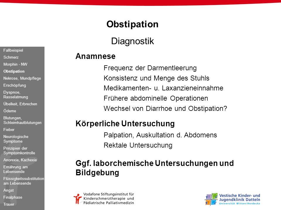 Obstipation Diagnostik Anamnese Frequenz der Darmentleerung