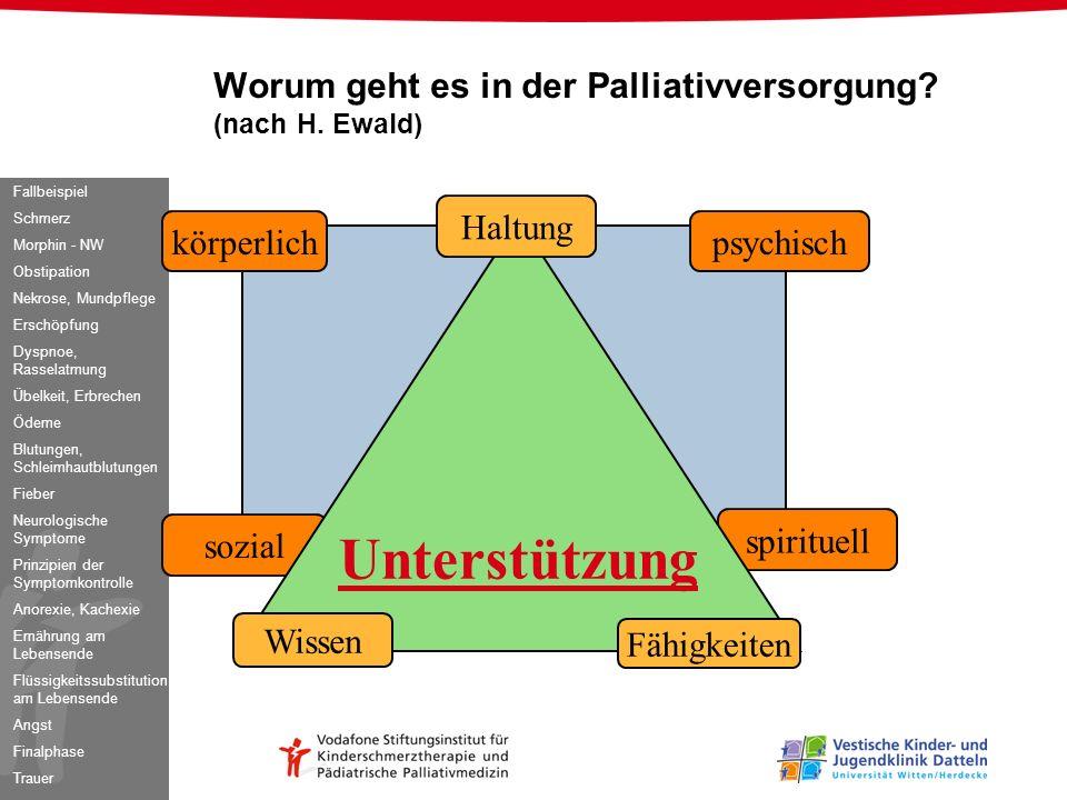 Worum geht es in der Palliativversorgung (nach H. Ewald)