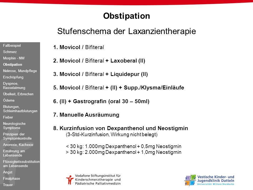 Stufenschema der Laxanzientherapie