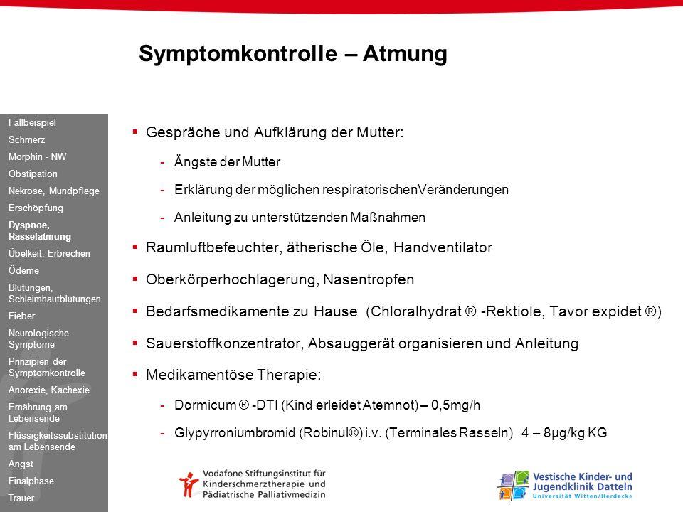 Symptomkontrolle – Atmung
