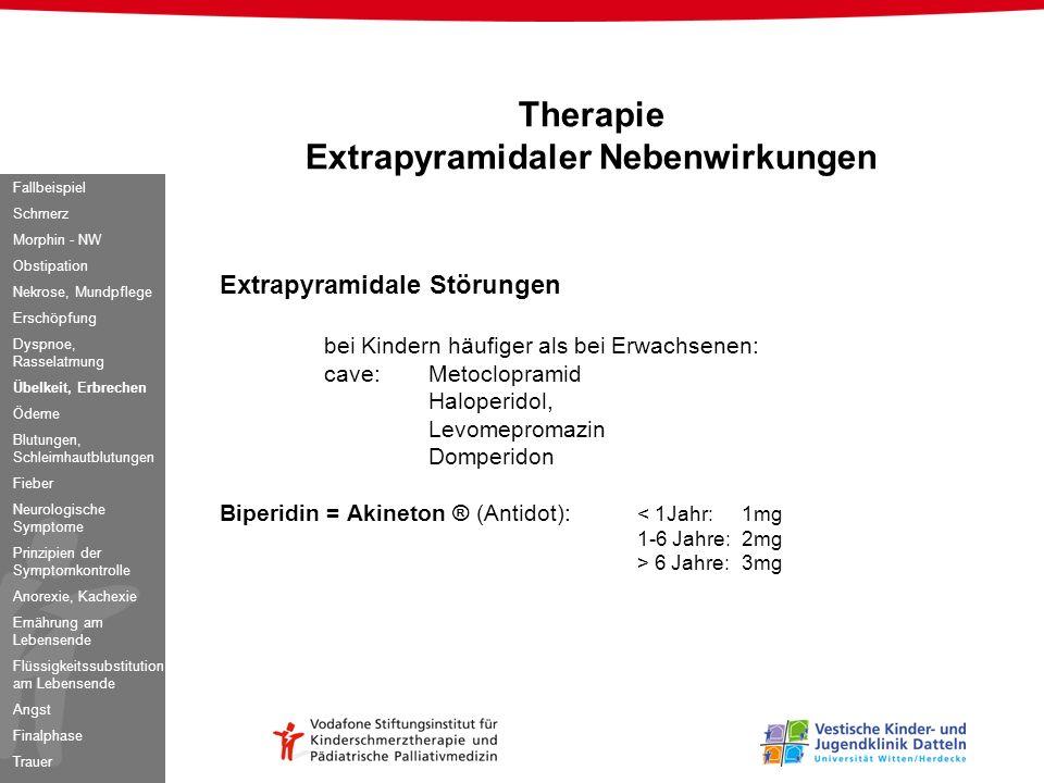 Therapie Extrapyramidaler Nebenwirkungen