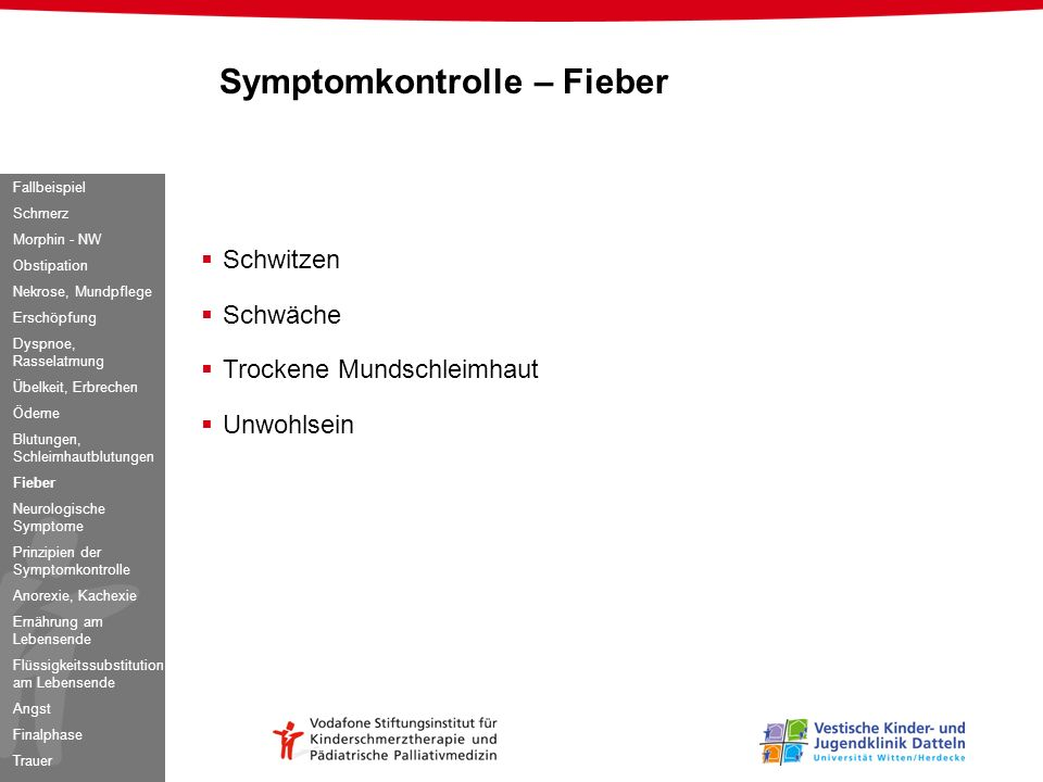 Symptomkontrolle – Fieber